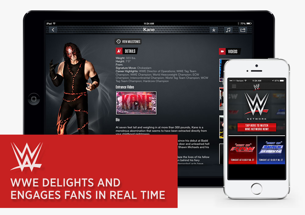 wwe delights engages fans real time