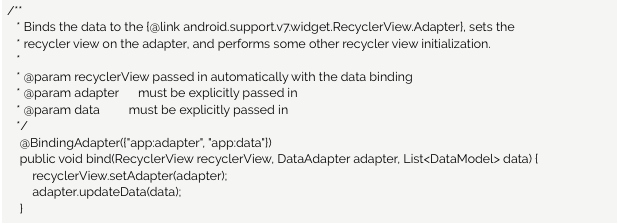 Android Data Binding with RecyclerViews and MVVM: a Clean